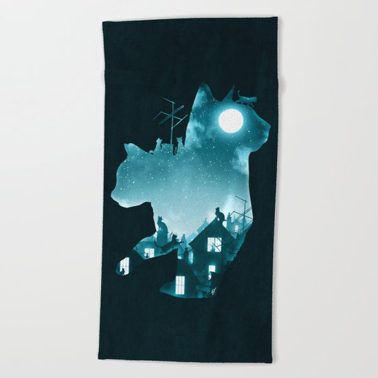 Under the Moon Beach Towel