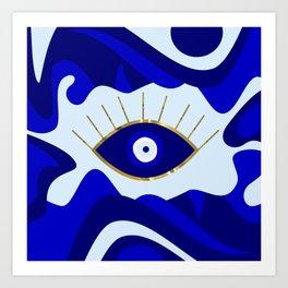 Lava All Seeing Evil Eye Art Print
