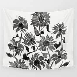 Sunflowers – Black Palette Wall Tapestry