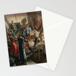 Classical African American Landscape 'Oh, Lord Jehovah, in Heaven' by Charles Alston Stationery Cards
