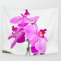 orchid Wall Tapestries featuring Orchid by Darko Rikalo