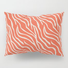 Orange Zebra Pillow Sham