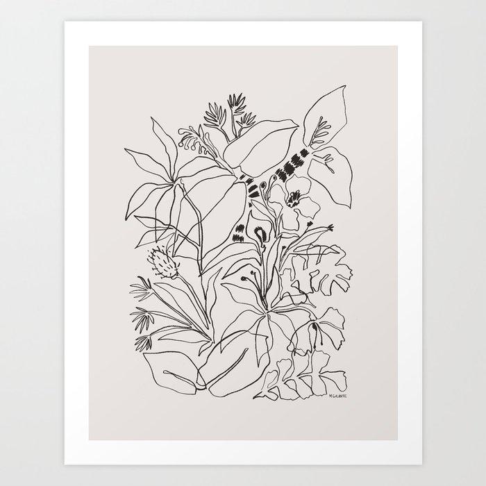 Charcoal Tropics Kunstdrucke