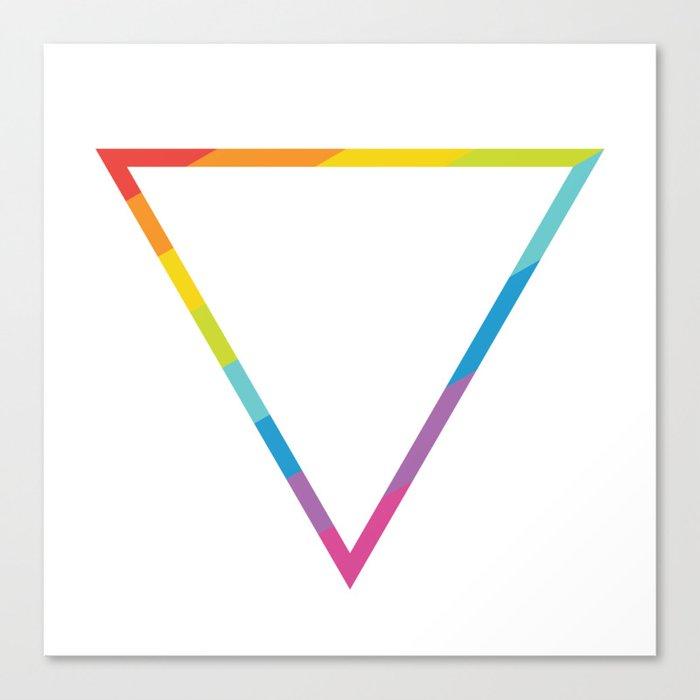 Pride: Rainbow Geometric Triangle Canvas Print
