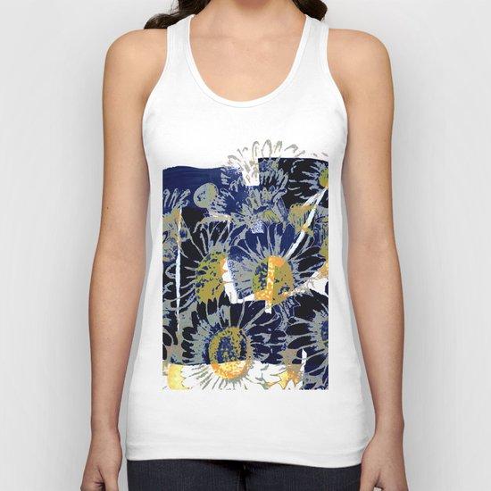 daisies on astract bakground Unisex Tank Top
