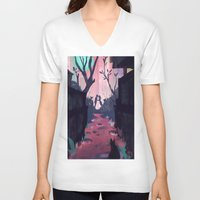 lovers V-neck T-shirts featuring Lovers by youcoucou