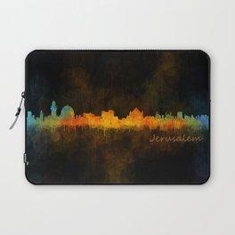 Jerusalem City Skyline Hq v4 Laptop Sleeve