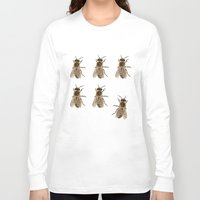 bees Long Sleeve T-shirts featuring Bees  by Cécile Pellerin