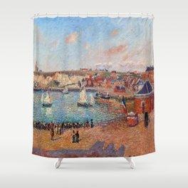 Camille Pissarro Dieppe Harbor Shower Curtain