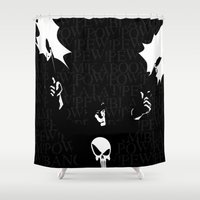 punisher Shower Curtains featuring The Punisher by Rob O'Connor
