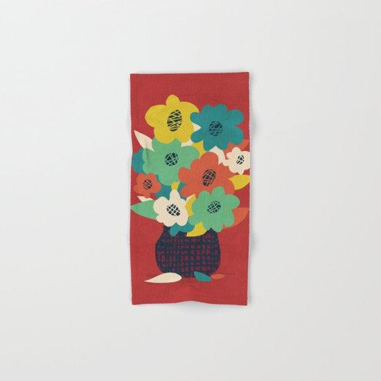 Paper Flowers Hand & Bath Towel