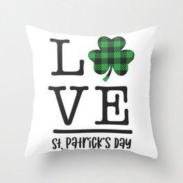 LOVE St Patricks Day Throw Pillow