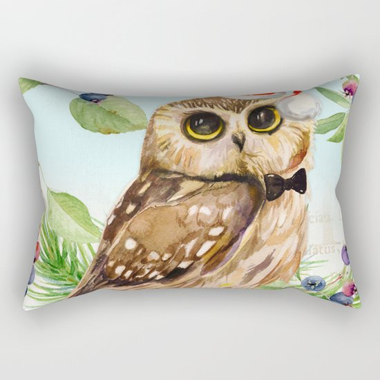 Winter animal #1 Rectangular Pillow
