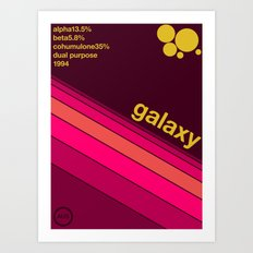 galaxy single hop Art Print