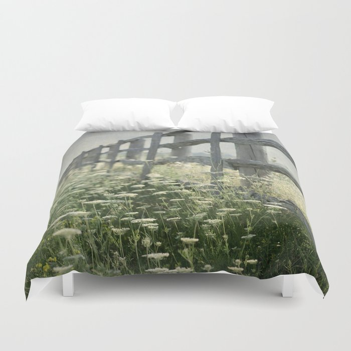 Rustic Fence Duvet Cover