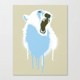 Polar Bear Head Canvas Print