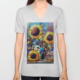 Sunshine and Splendour Unisex V-Neck
