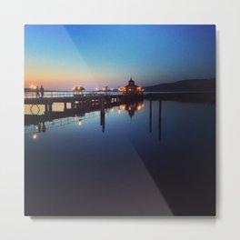 Evening Pier Metal Print