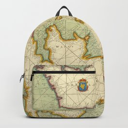 Vintage Map of The British Isles (1707) Backpack