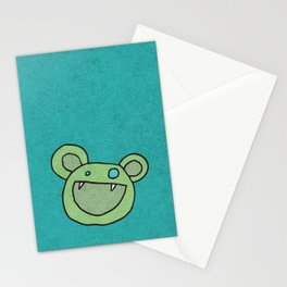 Slightly Amused Monsters, V Green Stationery Cards
