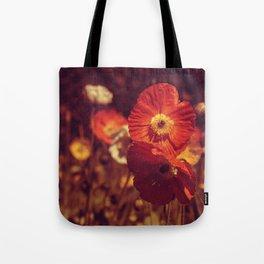 Crimson poppies Tote Bag