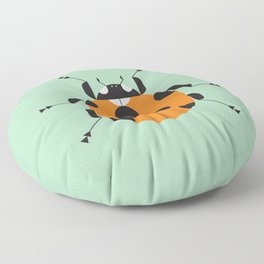 Lady Bug Green Floor Pillow