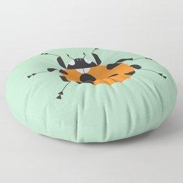 Lady Bug Green Floor Pillow
