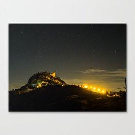 Canossa Castle in an Italian summer night Canvas Print