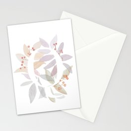 Monogram Q - Colorful Leaves - Rustic Design Stationery Cards