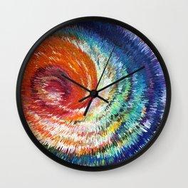Rainbow Wave Wall Clock