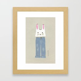 Outfit for a Saturday Morning Framed Art Print