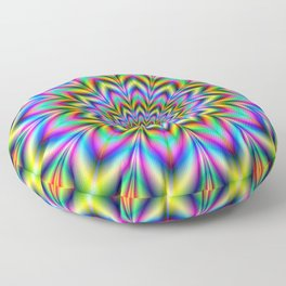 Psychedelic Flower Floor Pillow