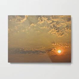 Sunset in the Clouds - The Peace Collection Metal Print