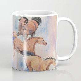 Cascade of Mares Wild Arabian Horses Coffee Mug