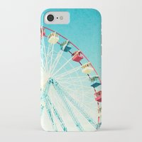 ferris wheel iPhone & iPod Cases featuring Ferris Wheel by Mina Teslaru