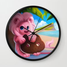 Lion on the Beach Wall Clock
