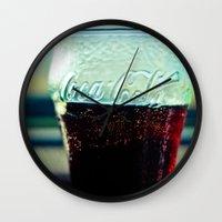 coke Wall Clocks featuring Coke  by Jo Bekah Photography