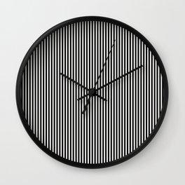 Simple Black & White Licorice Cabana Stripe Wall Clock