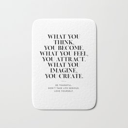 Law of Attraction Bath Mat