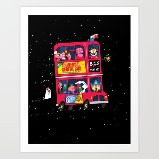 Universal Cereal Bus Art Print