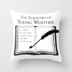 The Sorrows of Young Werther by Goethe Throw Pillow