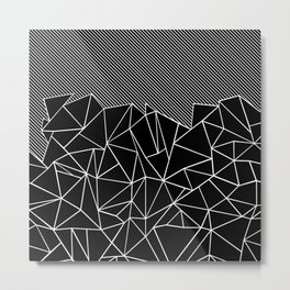 Ab Lines 45 Black Metal Print
