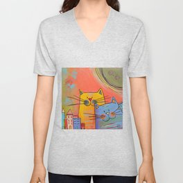 City cats Unisex V-Neck