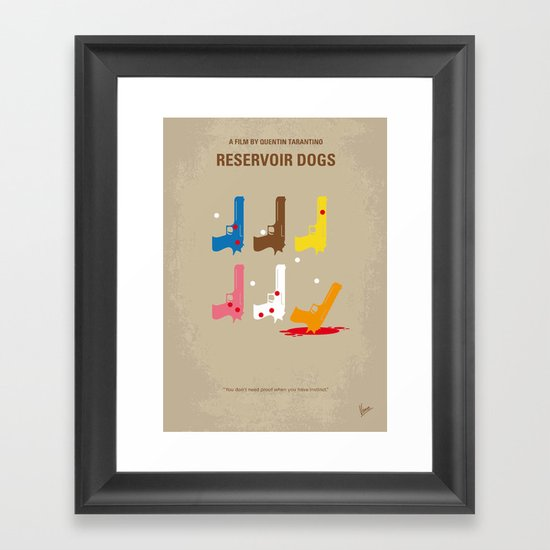 No069 My Reservoir Dogs minimal movie poster Framed Art Print