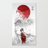japanese Canvas Prints featuring Japanese Poem by Marine Loup