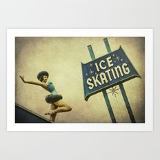 Ice Skating  Art Print
