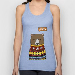 Sweater Bear  Unisex Tank Top