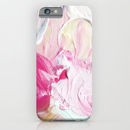 Minty Rose (Abstract Painting) iPhone Case