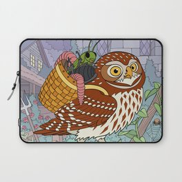 Little Owl with Packed Basket Laptop Sleeve
