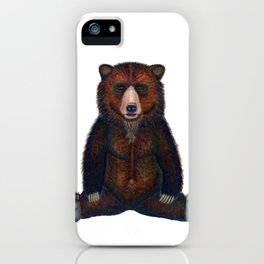 Blissed Out Bear iPhone Case